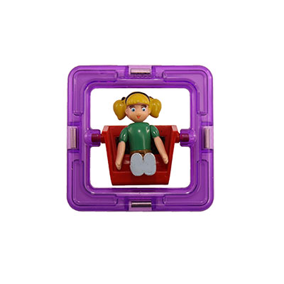 Girl Square Magformers