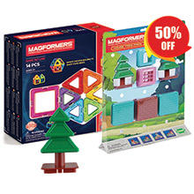 Купить Magformers 14pc Set + House