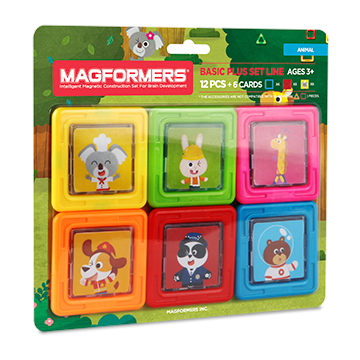 Купить Magformers Card Plus Animal Set 12P