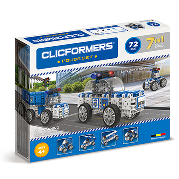 Купить Clicformers Police Vehicle 72pc (7 in 1)