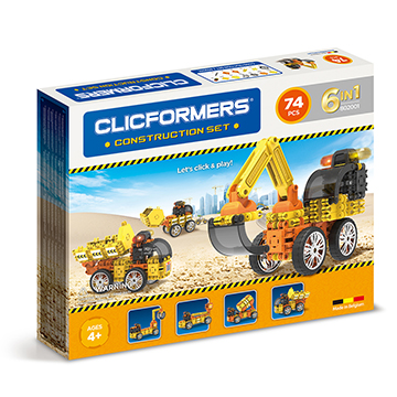 Купить Clicformers Construction 74 pc (6 in 1)