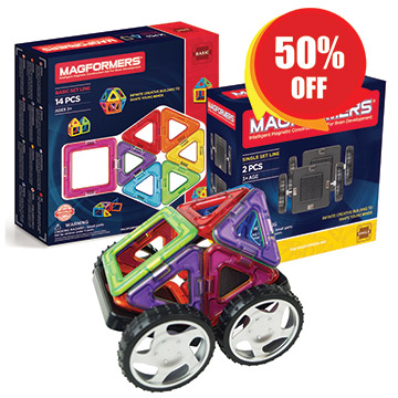Купить Magformers 14pc Set + Wheels